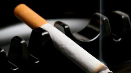cigarette, ashtray, black