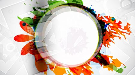 circle, colorful, bright