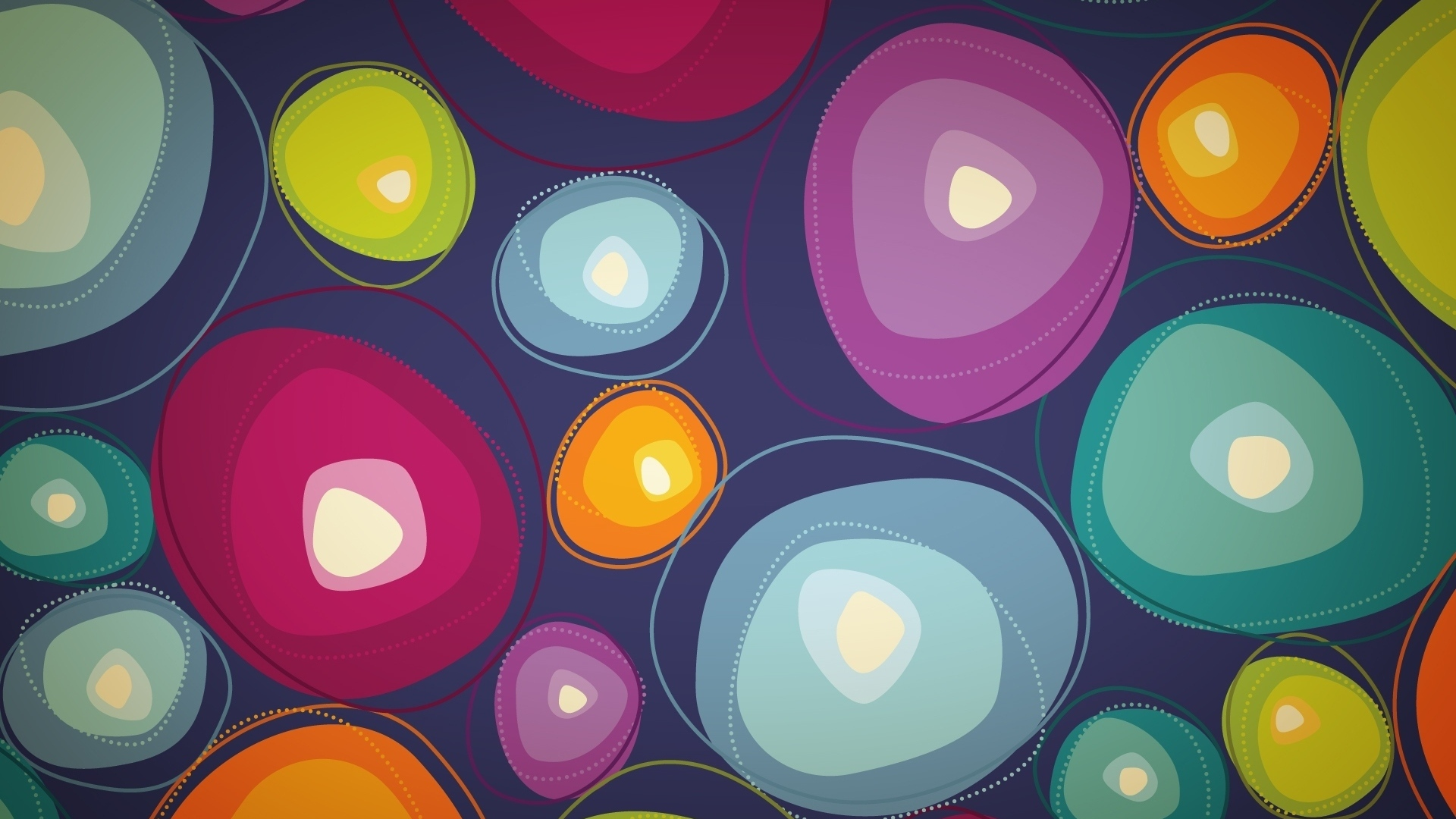 Download Wallpaper 1920x1080 circles, background, colorful ...