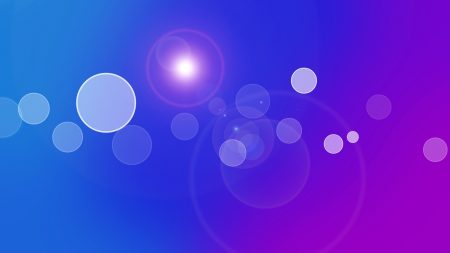 circles, light, reflections