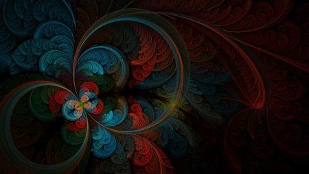 circles, patterns, dark