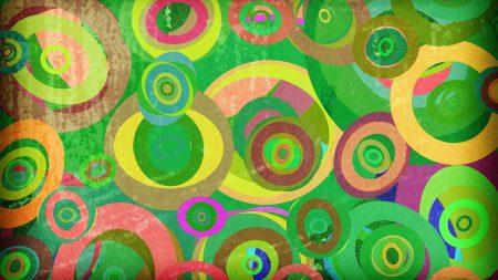 circles, pencil, multicolored