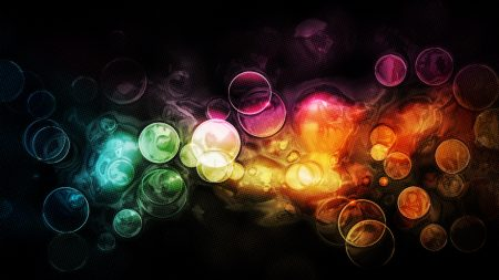 circles, reflections, multi-colored