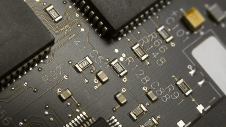 circuit paths, chips, black