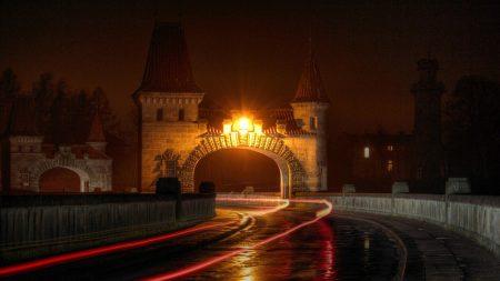 city, arch, entrance