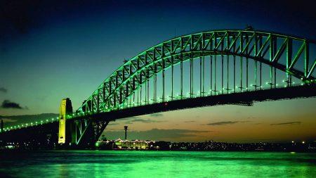 city, bridge, big