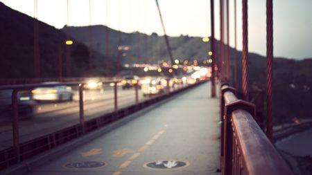 city, bridge, rail