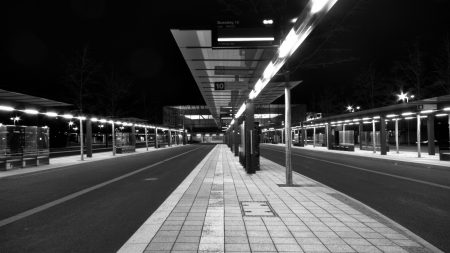city, ??bus stops, road