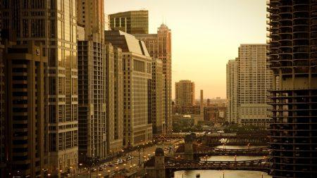 city, houses, sky