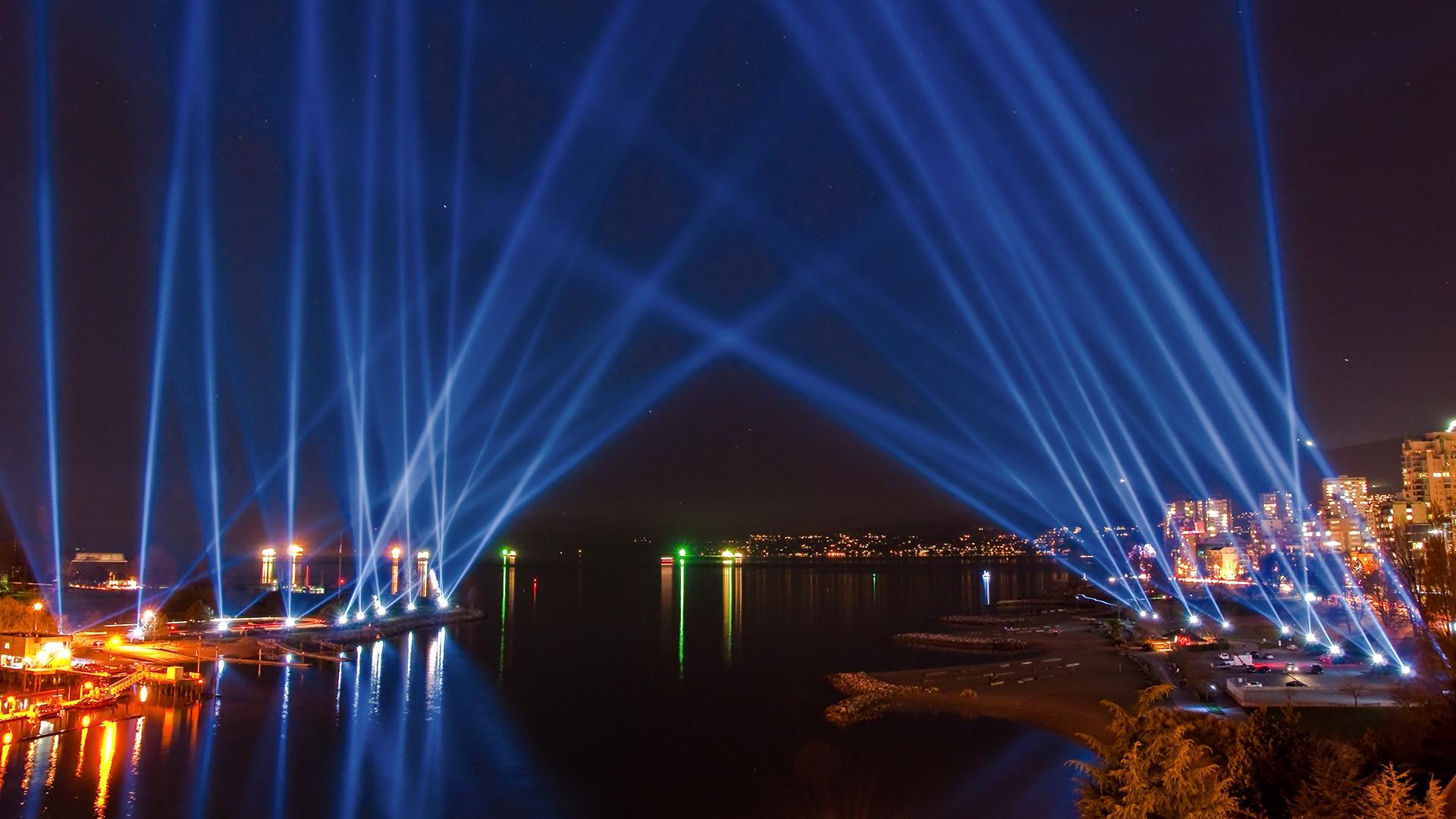 Download Wallpaper 1920x1080 City Lights, Sky, Light