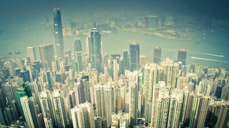 city, metropolis, top view