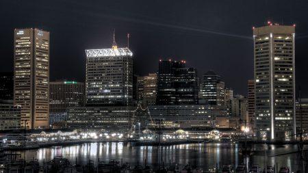 city, night, cityscape