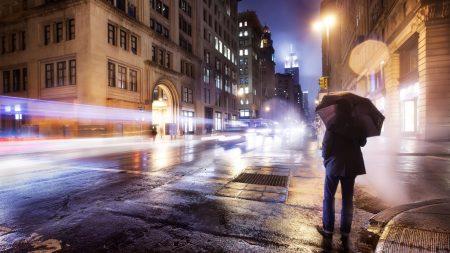 city, night, cloudy