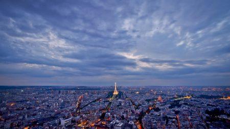 city, night, paris
