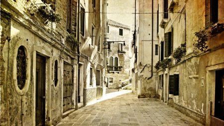 city??, old, street