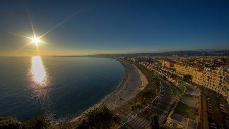 city, resort, top view