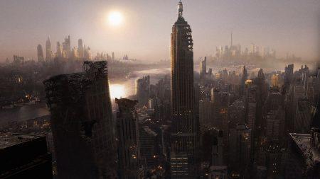 city, ruins, megacity