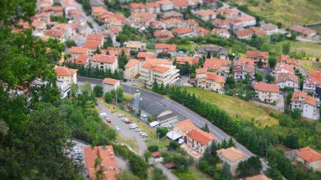 city, settlement, houses