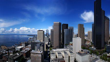 city, sky, skyscraper