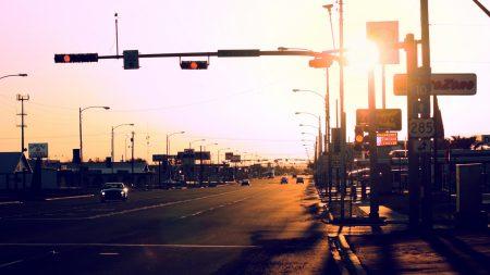 city, street, car