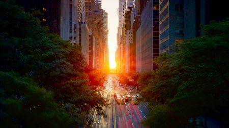 city??, sunset, sun