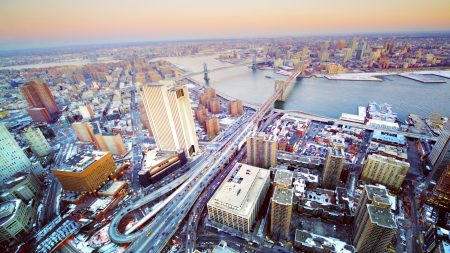 city, top view, panorama