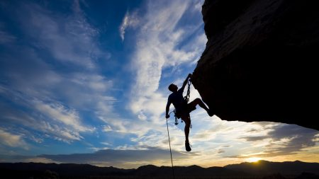 climber, extreme, silhouette