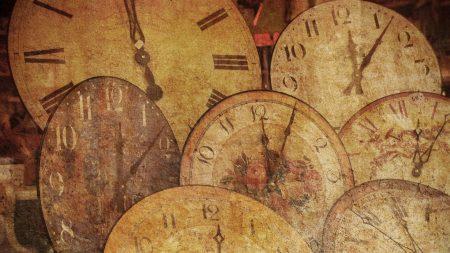 clock, antique, arrow