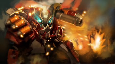 clockwerk, dota 2, art
