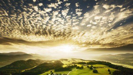 clouds, plumose, light