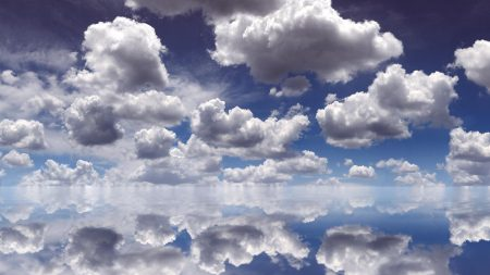 clouds, reflection, sky
