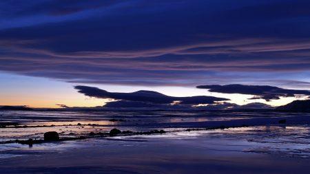 clouds, sea, dark blue