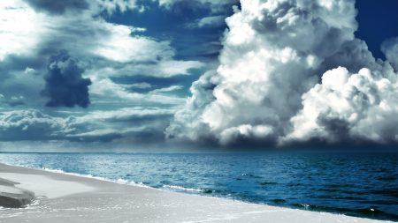 clouds, volume, beach