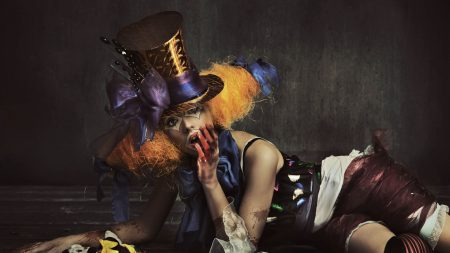 clown, girl, hat