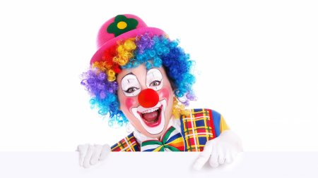 clown, poster, advertising