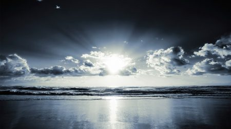 coast, beach, sun