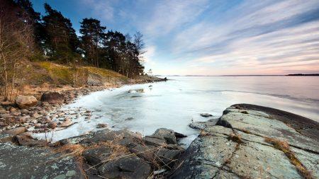 coast, boulders, stones