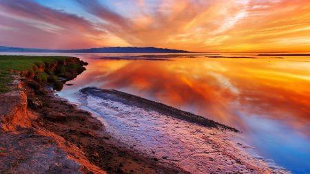 coast, earth, orange