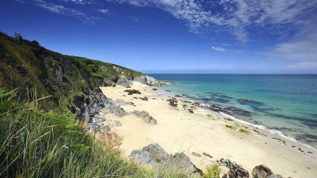 coast, ocean, sand