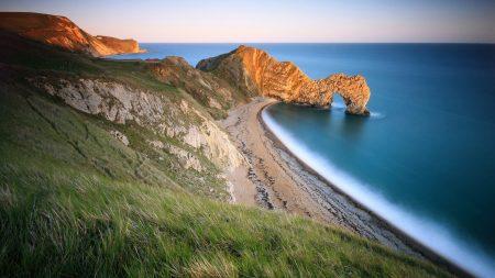 coast, sea, arch