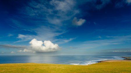 coast, sky, cloud