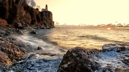 coast, stony, rock