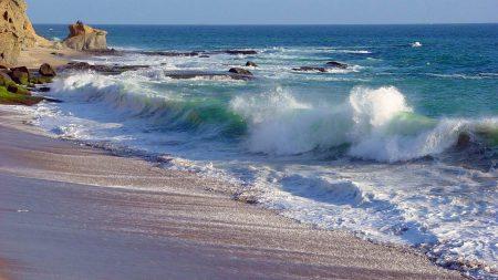 coast, waves, surf