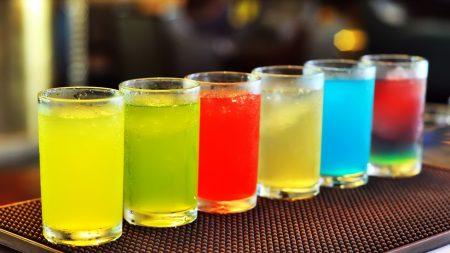 cocktail, table, bar