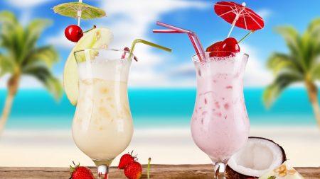 cocktails, coconut, drink