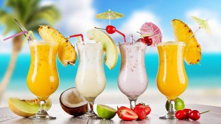cocktails, summer mood, fruit