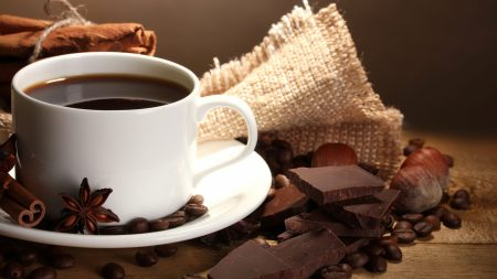 coffee, chocolate, coffee beans