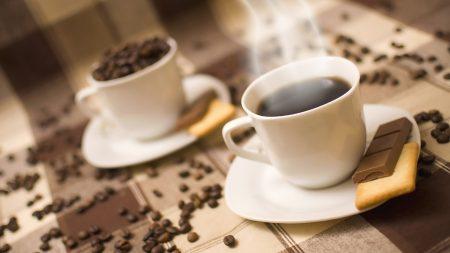 coffee, cup, cookies