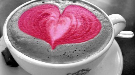 coffee, cup, heart