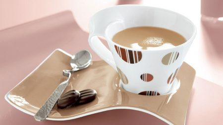 coffee, cup, plate
